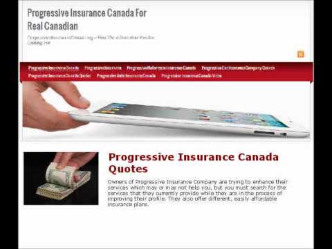 Progressive Insurance Canada Quotes -- An Overview