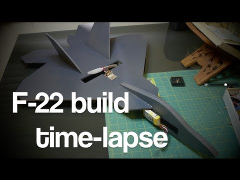 RC F-22 Scratch build time-lapse HD