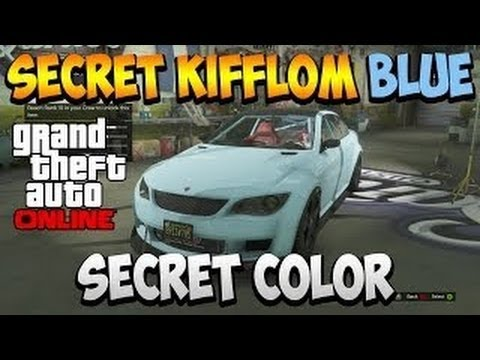 Gta 5 Online - Secret Kifflom Blue Paint Job! How To Get Kifflom Blue!