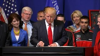 President Donald Trump full spech from Kenosha, Wisconsin Snap-on Tools headquarters 4/18/2017