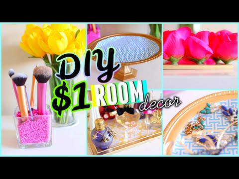 DIY Dollar Store Room Decor & Organization! 2015 | Cute & Cheap!