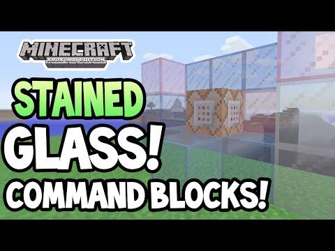 Minecraft Xbox 360 PS3 TU19 UPDATE STAINED GLASS + COMMAND BLOCKS GAMEPLAY