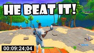 9:24 WORLD RECORD Default Deathrun in Fortnite Creative!