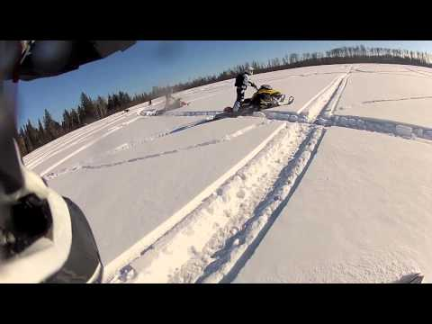 2013 Ski-doo Summit's insane wheelies!