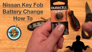 How To Change The Battery in a Nissan Key Fob