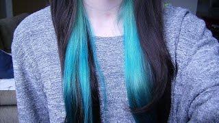 Como fazer mechas colorida no cabelo sem tinta
