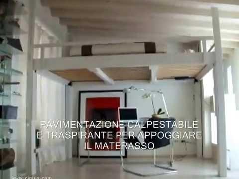 LETTO A SCOMPARSA - LETTO A SOPPALCO IN LEGNO - YouTube
