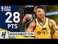 Donovan Mitchell Full Highlights Jazz vs Celtics 2018.11.17 - 28 Pts, 6 Ast, SICK!