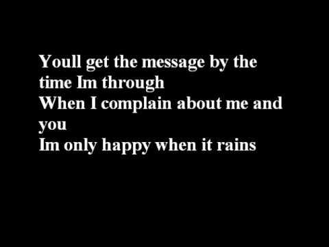 garbage lyrics only happy when: