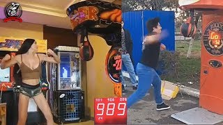 0-999 People Punching BOXING MACHINE | Don't mess with Boxers