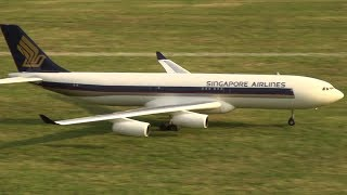 HUGE RC AIRLINER SINGAPORE AIRBUS A-340 AMAZING RC TURBINE AIRPLANE