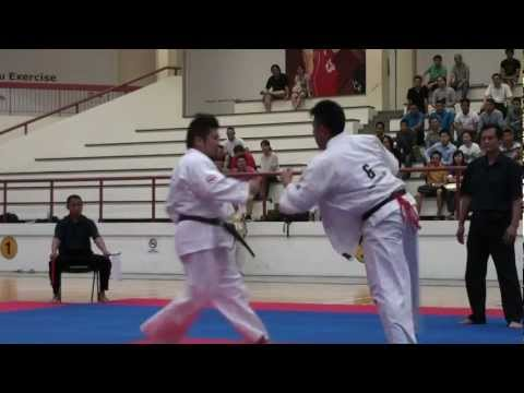 Kyokushin Karate Tournament 2012_ Kenji Sori vs Augustine Image 1