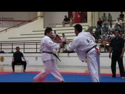 Kyokushin Karate Tournament 2012_ Kenji Sori vs Augustine Image 1
