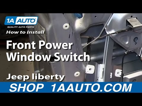 How To Install Replace Front Power Window Switch 2002-07 Jeep liberty