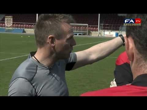 Stuart Pearce trains the Army for their match vs FA Legends