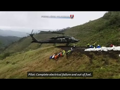Audio of pilot of doomed Colombian flight, desperately trying to land before the plane crashed.