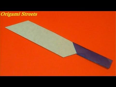 Поделки с бумаги как сделать нож