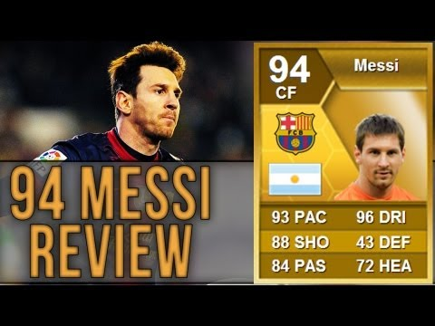 FIFA 13 94 MESSI STRIKER Review | Ultimate Team