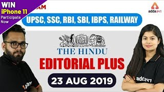 The Hindu Analysis (23 Aug 2019) | Hindu Editorial for UPSC, SSC, BANK