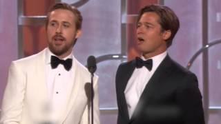 Twitter explota con Ryan Gosling y Brad Pitt en los Golden Globes