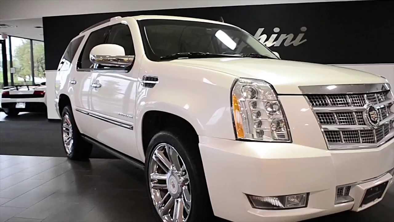 White Cadillac Escalade 2013 2013 Cadillac Escalade