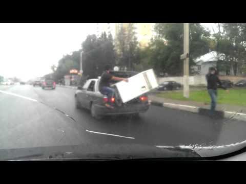 Креатив в перевозке крупногабаритных грузов .