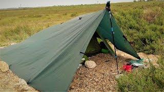 NUDIST BEACH WILD CAMP | LOMO TARP AND VANGO NYX 2 TENT