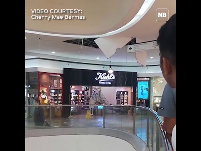 Ceiling of a mall in Pasay fell due to heavy rains