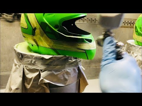 HOW PAINT A HELMET STEP BY STEP - VLOG32 PART2/2
