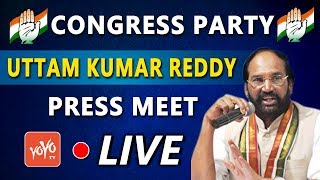 Telangana Congress LIVE | Uttam Kumar Reddy | MP Elections 2019 |YOYO TV Channel