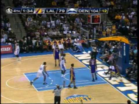 Ty Lawson dunk on Lakers Video