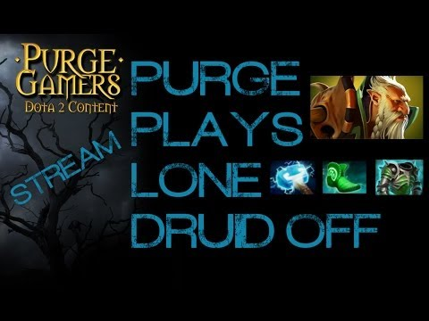 Dota 2 Purge plays Lone Druid