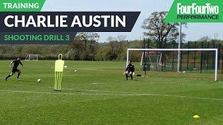 Charlie Austin's striker school | Combination play | Soccer shooting drill