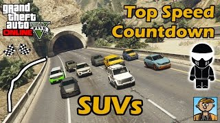 Fastest SUVs - Top Speeds Of Fully Upgraded Cars In GTA Online