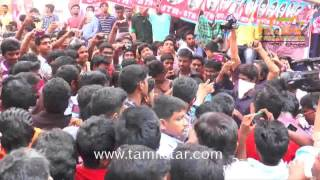 Simbu  Fans Celebrates Vaalu At Kaasi Theatre
