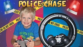 Michael Catches Daddy with Police Car!