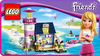 ♥ LEGO Friends HEARTLAKE LIGHTHOUSE Stop Motion Funny Build