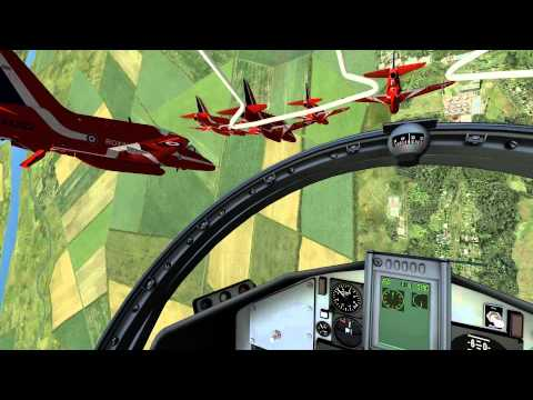 COCKPIT RIDE at VFAT 2013 - Virtual Red Arrows