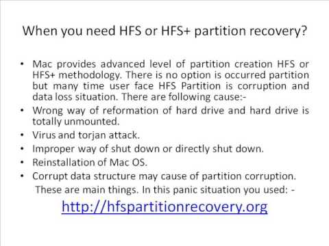 HFS Partition Recovery | HFS+ Partition Recovery