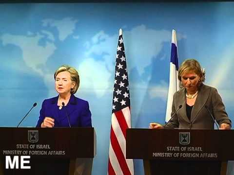 US Secretary of State Hillary Clinton and Israeli Foreign Minister Tzipi Livni in March 2009