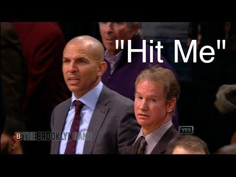 "Jason Kidd says ""Hit Me"" & Spills Drink on Court"