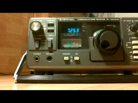 Kenwood R-1000 SSB 40 meters HAM band