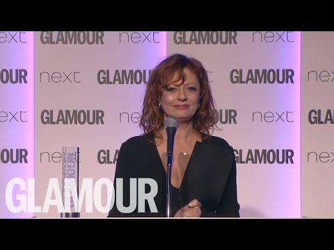 Susan Sarandon's acceptance speech at GLAMOUR's Women of The Year Awards 2016