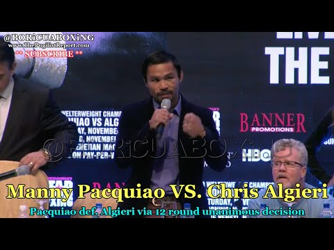 PACQUIAO calls out MAYWEATHER after the Algieri fight: