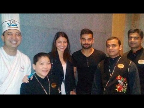 Virat Kohli, Anushka Sharma spotted together at a restaurant to celebrate RCB's win | Oneindia News