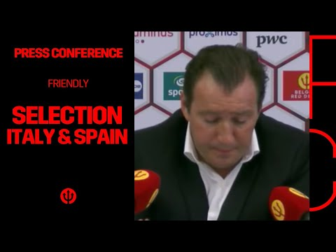 Press conference Marc Wilmots: selection Belgian Red Devils Italy & Spain