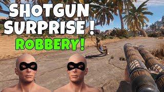 RUST | ROBBING PLAYERS WITH SHOTGUNS!