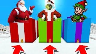Minecraft PE : DO NOT CHOOSE THE WRONG PRESENT! (Santa, Grinch & Elf)
