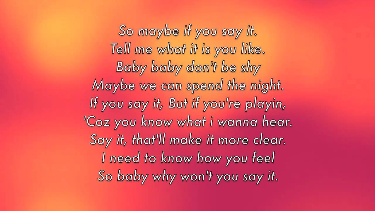SAY IT with LYRICS by RIHANNA - YouTube Rihanna What Now Lyrics Tumblr