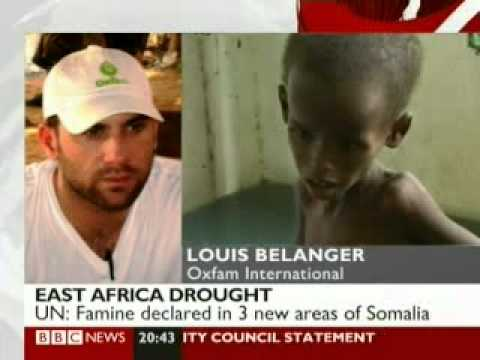 Oxfam's Louis Belanger reports on the East Africa food crisis (BBC News 24)